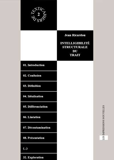 Couverture - Textica 2 - Intelligibilité structurale du trait