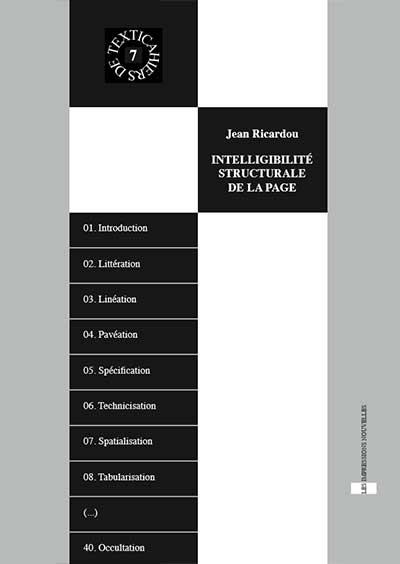 Couverture - Textica 7 - Intelligibilité structurale de la page